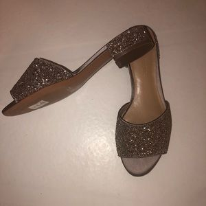 J. crew glitter slides low heel size 6